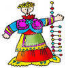 Colorful Doll clipart