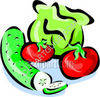 Cucumber, Tomatoes, and Lettuce clipart