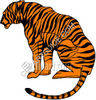 Sitting Bengal Tiger clipart