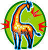Giraffe Looking Back clipart