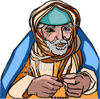 Holyman Holding a Beads clipart