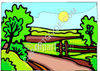 Sunrising Over Countryside Landscape clipart
