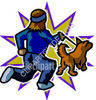 Man Jogging with His Dog clipart