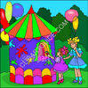 Girls at the Circus clipart