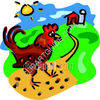 Rooster at a Farm clipart