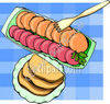 Cooked and Prepared Dinner Meal clipart