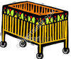 Baby Crib On Wheels - Furniture clipart