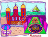 Monaco Castle - Palace - Beach clipart