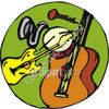 Music Instruments - Drum - Guitar - Violin clipart