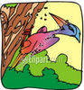 Woodpecker Pecking a Tree clipart