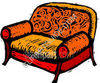 Orange Couch clipart