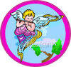 Cherub Playing the Musical Flute Instrument clipart