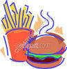 Fries & Burger - Fast Food clipart