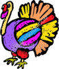 Colorful Thanksgiving Turkey clipart