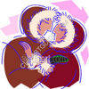 Eskimos Kissing and Showing Affection clipart