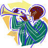 Person Playing the Trumpet clipart
