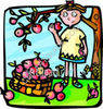 Person Eating an Apple from a Tree clipart