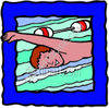 Boy Swimming clipart