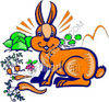 Rabbit in a Vegetable Garden clipart