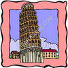 Tower of Pisa clipart
