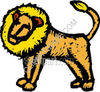 Gold Lion Standing clipart