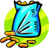 Bag of Nuts clipart