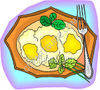 Plate of Fried Eggs clipart