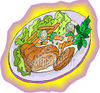 Plate of Food clipart