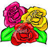 3 Roses clipart