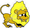 Funny Lion clipart