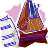 Sheet Music and a Metronome clipart
