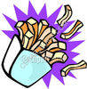 Carton of French Fries clipart
