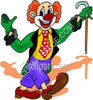 Clown in Tails clipart