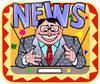 News Broadcaster clipart