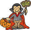 Boy Dressed as a Vampire clipart