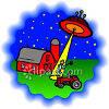 Farmer Being Beamed Up clipart
