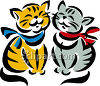 Two Kittens Smiling clipart