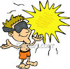Man in the Sun clipart