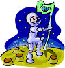 Man on the Moon clipart