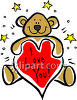 "Teddy Bear with Heart That Says ""I  Love You"" clipart"