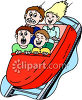 Kids on a Carnival Ride clipart