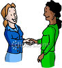 Two Business Women Shaking Hands clipart