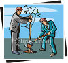 Two Men Planting a Tree clipart