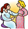 Pregnant Woman Having a Check-up clipart