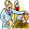 Man Receiving a Blood Transfusion clipart