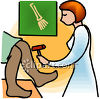 Doctor Testing a Patients Reflexes clipart