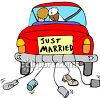 Just Married Get Away Car clipart