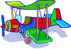 Brightly Colored Toy Airplane clipart