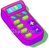 Kid's Toy Calculator clipart