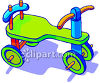 Kid's Wheeled Scooter clipart